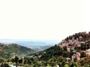 View of Dharamsala from road leading to Bhagsu