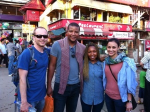 McLeod Ganj square with South African homies. Home is where the heart is!