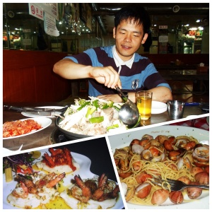 These were definitely some of the tastiest meals I had on the road. The best being my 'last supper' in Seoul, South Korea with Derrick. On the bottom left was a delicious trio of prawns dish I 'hoovered' at a restaurant in Candolim, Goa. The bottom right was a clam pasta I had on my last night in Phuket. A delicious Italian spot just off Patong beach road.